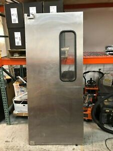 35 5 x82 Stainless Steel Restaurant Kitchen Door Swinging Traffic Doors