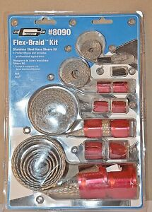 New Mr Gasket 8090 Braided Hose Sleeve Cover Kit Over 20 Feet Of Braid
