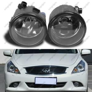For 2010 2013 Infiniti G37 Clear Lens Replacement Fog Light Housing Assembly