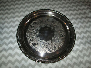 Vintage Wm Rogers 161 12 Round Serving Platter Tray Silver Plated