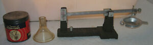 Vintage Herter's Powder Scale with transparent powder funnel for Reloading