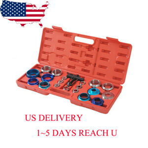 Usa 20 Pcs Crank Cam Shaft Bearing Removal And Install Tool Kit Set With A Case