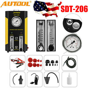 New Autool Sdt206 Car Truck Smoke Leak Detector Smoke Machines Evap System Usa