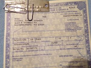 1968 Ford Pick Up Historical Paperwork Document Hot Rat Rod Rare Barn