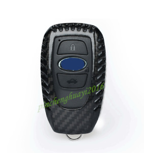 Real Carbon Fiber Remote Key Case Fob Shell Key Cover For Subaru Forester 2019