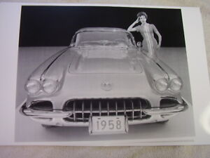 1958 Chevrolet Corvette Front View 11 X 17 Photo Picture
