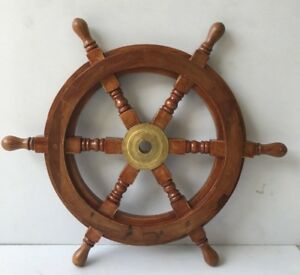 30 Vintage Nautical Marine Wooden Brass Ship Wheel Pirate Wall Decor Gift Item