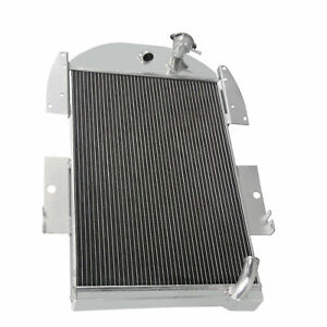 3row Aluminum Radiator For 1934 1936 35 Chevy P u Pickup Truck 6 Cylinder Engine