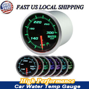 2 52mm Chrome Digital Led Fahrenheit Water Temp Temperature Gauge 12v