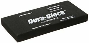Dura Block Scruff Pad Blocking Tool Wet Dry Sanding Eva Rubber Thickness Black