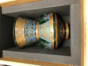 Magnificent Islamic Large Vase Mosque Lamp Enamelled