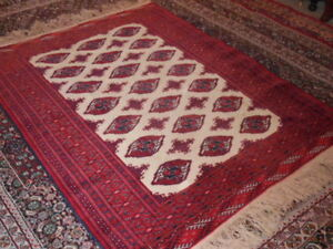 Fine Quality Genuine Turkoman Wool Hand Knotted Persian Rug Carpet Runner