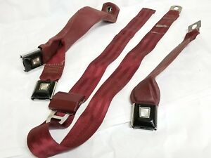 93 Ford 150 Seatbelt Buckle Driver And Passenger Side Red Sept Rdp1