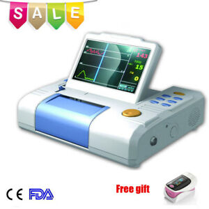 Medical Single Fetal 7 inch Fetal Monitor Fhr Toco Fetal Movement printer Fda