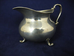 Antique Sterling Silver Creamer With Bee Mark