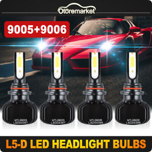 2pair 9005 9006 Led Headlight Kit Yellow white Dual Color Bulbs 3000k 6000k