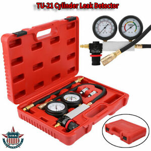 4pcs Cylinder Leak Tester Petrol Engine Compression Leakage Leakdown Detector Us