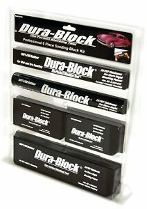 Dura Block Sanding Block Set 6pcs Kit Auto Body Tools Car Garage 100 Eva Rubber