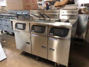 Pitco Sshlv14t Sshlv14 Sshlv184 Battery Of 3 Commercial Fryer With Filter