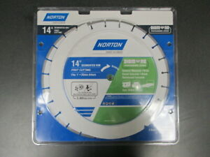 New Norton 2 pack 14 Wet Or Dry Segmented Diamond Circular Saw Blade