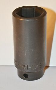 1 1 8 Inch Wright Tools Usa 1 2 Inch Drive 6 Point Deep Impact Socket