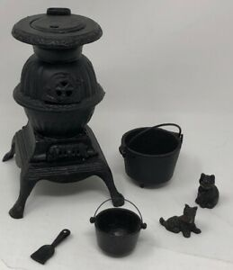Iron Casting Salesman S Sample Pot Belly Stove With 2 Buckets 1canada Forge Etc