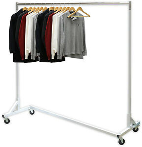 Simple Houseware Industrial Grade Z base Garment Rack 400lb Load With 62 Long