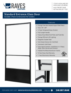 Beer Cave Entrance Glass Doors By Raves Cooler Doors