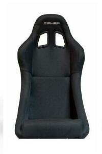 Cipher Auto Fixed back Black Fabric Black Stitching Bucket Racing Seat W sliders