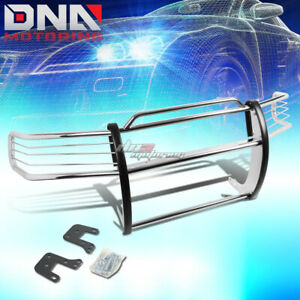 For 94 01 Dodge Ram 1500 3500 Black Coated Mild Steel Front Grill Guard Flame