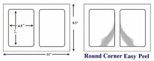 Quality Round Corner Perforated Shipping Labels 2 Per Sheet 7 X 4 5