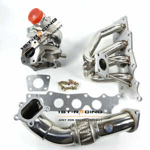 Exhaust Manifold K0422 582 Turbo 3 Downpipe For 07 13 Mazdaspeed Cx 7 2 3l