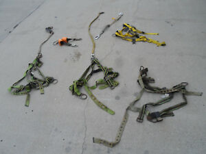 Lot Of 3 Safety Protective Climbing Harnesses Fall Arrest Miller Duraflex 310 Lb