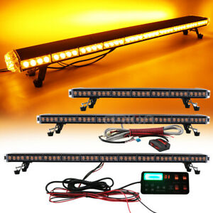 47 55 Led Roof Top Emergency Warning Strobe Light Bar Amber Car Truck Tow Plow