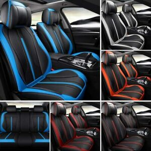 5 Seat Pu Leather Car Seat Cover Full Set Front Rear Cunsions Protector