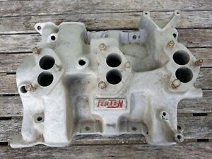 Vtg Ford Fenton Tri Power 3 Deuce Dm 425 Intake Manifold Y Block Engine