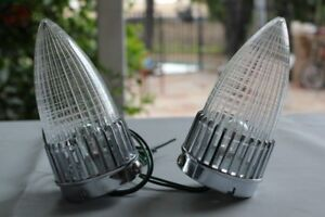 59 Cadillac Bullet Tail Lamp Lights Clear Lens Pair Custom Truck Hot Rat Rod Fits Ford Prefect