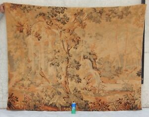 Big Vintage French Verdure Wall Hanging Tapestry 138x179cm