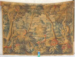 Big Vintage French Verdure Wall Hanging Tapestry 140x191cm
