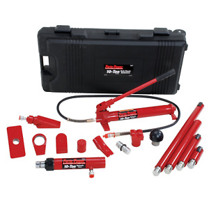 Porto Power B65115 Black Red Hydraulic Body Repair 19 Piece Kit 10 Ton