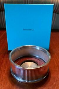 Tiffany Co Sterling Silver Wine Coaster Still In Box