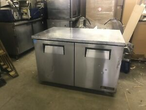True Tuc 48 48 Commercial Undercounter Refrigerator Cooler Worktop Used