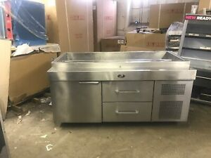 Randell 72 T Line Refrigerated Prep Station Stainless Cooler Used