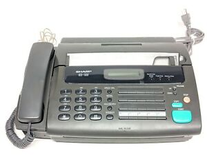 Sharp Ux 106 Fax Machine Use Thermal Fax Paper Used Working Condition
