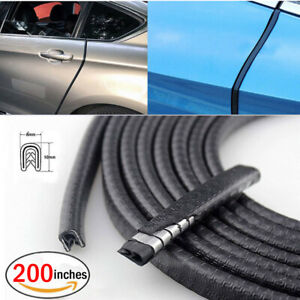200 Car Auto Door Edge Guard Rubber Seal Trim Lock Molding Strip Weatherstrip