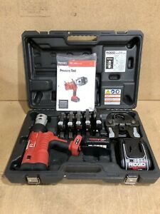 Ridgid Rp340 Propress Tool With 1 2 2 Jaws 1x Battery Charger And Case