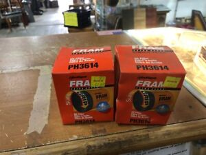 Lot Of 2 Fram Ph3614 Spin On Engine Oil Filter Wow Look Now B71 V