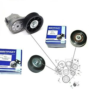 Land Rover Discovery 2 P38 Lower Upper Idler Pulley Drive Belt Tensioner Kit