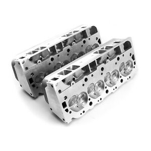Chevy Bbc 454 320cc 119cc Hydr R Complete Aluminum Cylinder Heads