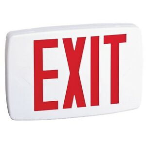 Quantum Plastic White Led Emergency Exit Sign